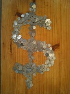 coin dollar sign vert